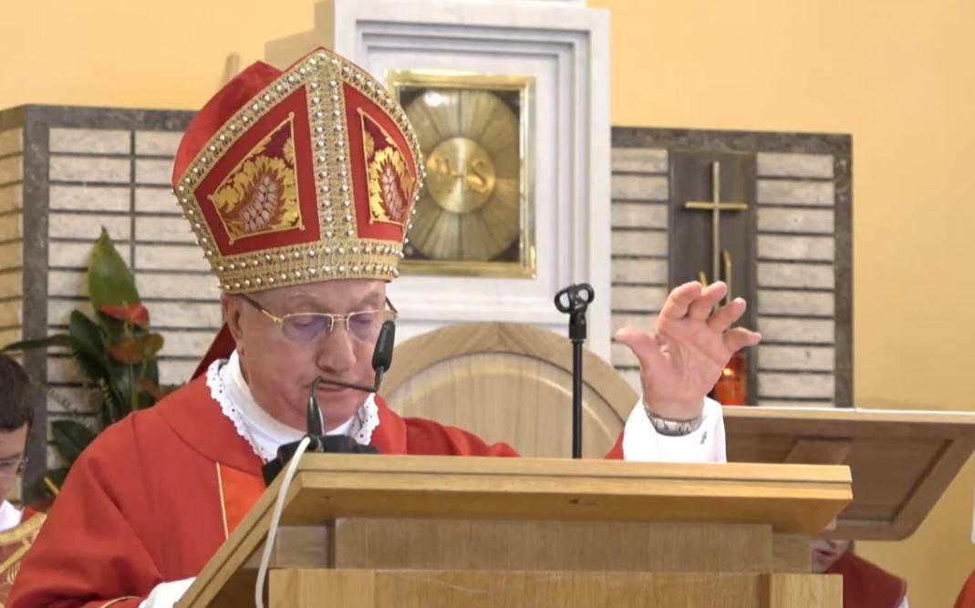 講道﹕總主教 Luigi Pezzuto 在聖神降臨節親臨默主哥耶