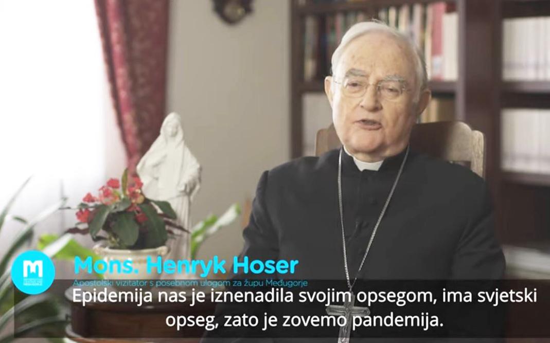 訪問教廷特派到默主哥耶觀察員總主教 Henryk Hoser