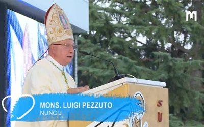 教廷大使 Luigi Pezzuto 總主教的講道